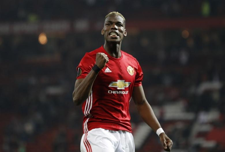 Britain Football Soccer - Manchester United v Celta Vigo - UEFA Europa League Semi Final Second Leg - Old Trafford, Manchester, England - 11/5/17 Manchester United's Paul Pogba celebrates after the match   Reuters / Darren Staples Livepic
