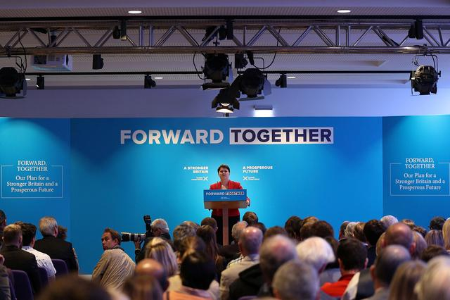Scottish Conservative leader Ruth Davidson gives a speech as she launches the Scottish manifesto in Edinburgh, Scotland, Britain May 19, 2017. REUTERS/Dan Kitwood/Pool