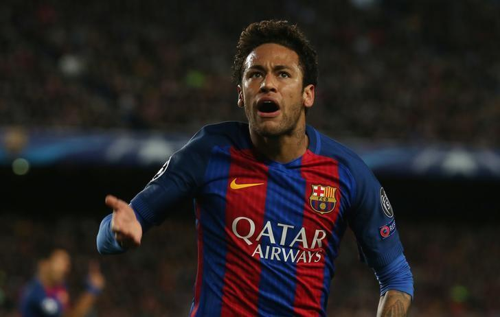 Football Soccer - FC Barcelona v Juventus - UEFA Champions League Quarter Final Second Leg - The Nou Camp, Barcelona, Spain - 19/4/17 Barcelona's Neymar reacts Reuters / Albert Gea Livepic