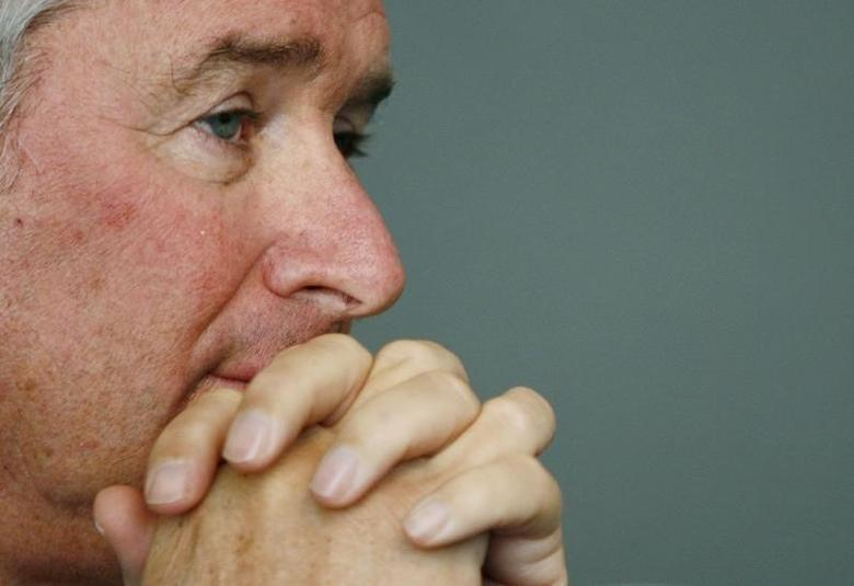 Stephen A. Schwarzman, Chairman, CEO and Co-Founder of the Blackstone Group, attends a conference on Sovereign Wealth Funds at the Asia Society in New York April 14, 2008. Shannon Stapleton
