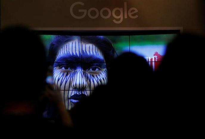 Brazilian indigenous people and representatives from google talk about the project 'I'm Amazon by Google' during the presentation of new Google Earth project in Sao Paulo, Brazil July 11, 2017. Leonardo Benassatto