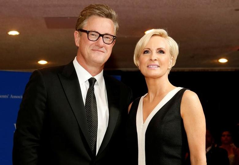 MSNBC's Joe Scarborough and Mika Brzezinski arrive for the annual White House Correspondents' Association dinner in Washington, U.S. on April 25, 2015. Jonathan Ernst