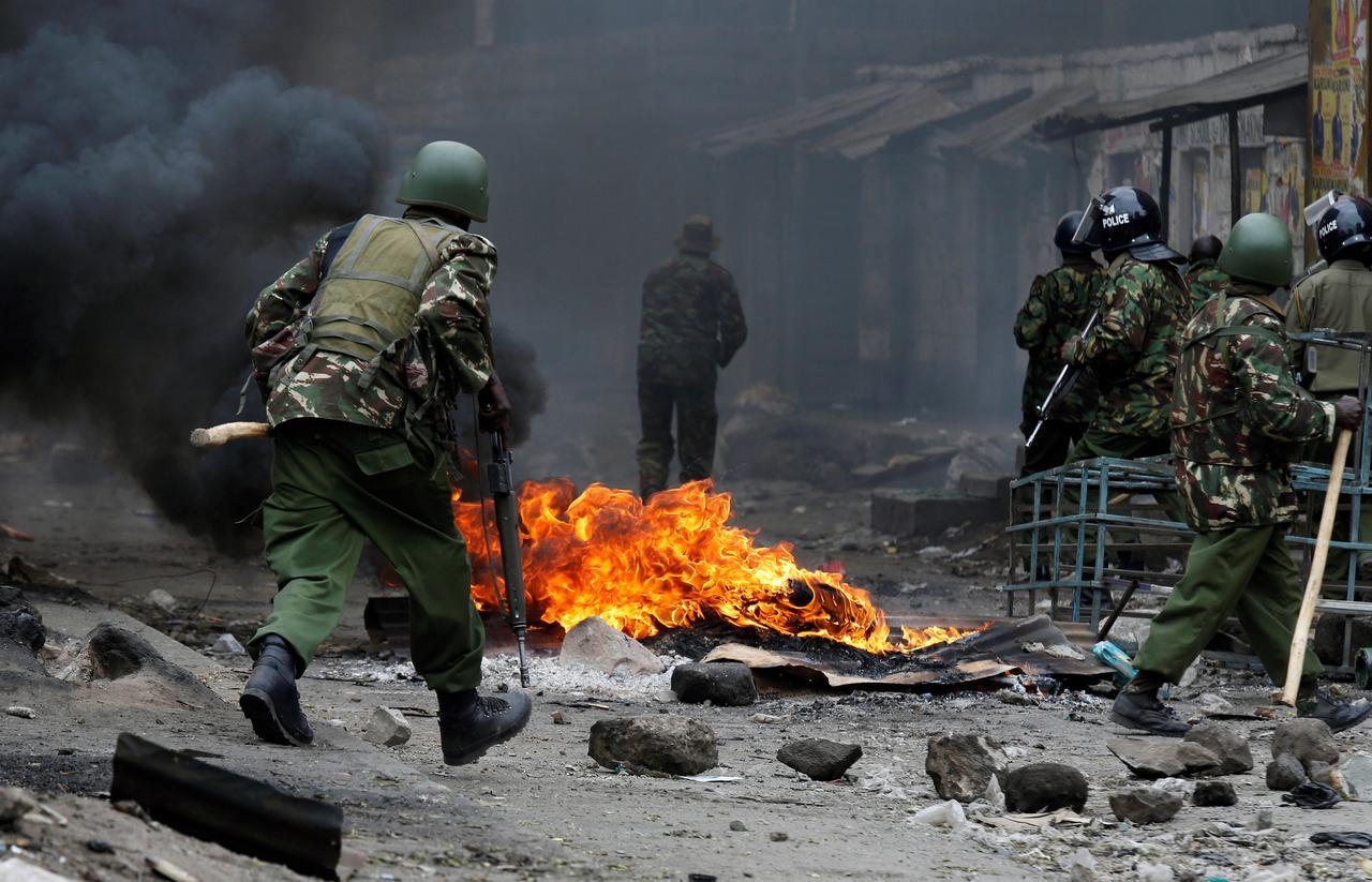 Image result for Eleven dead as post-election unrest erupts in Kenya