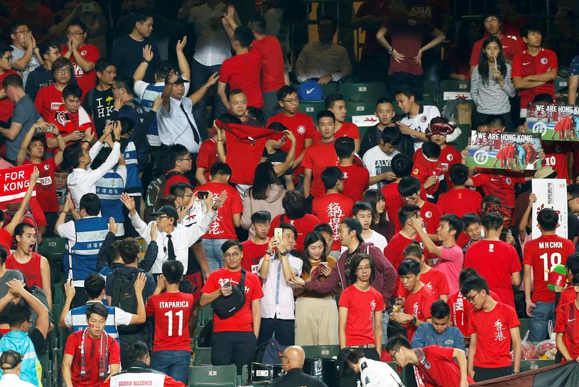 Hong Kong soccer fans defy Beijing by booing Chinese national anthem