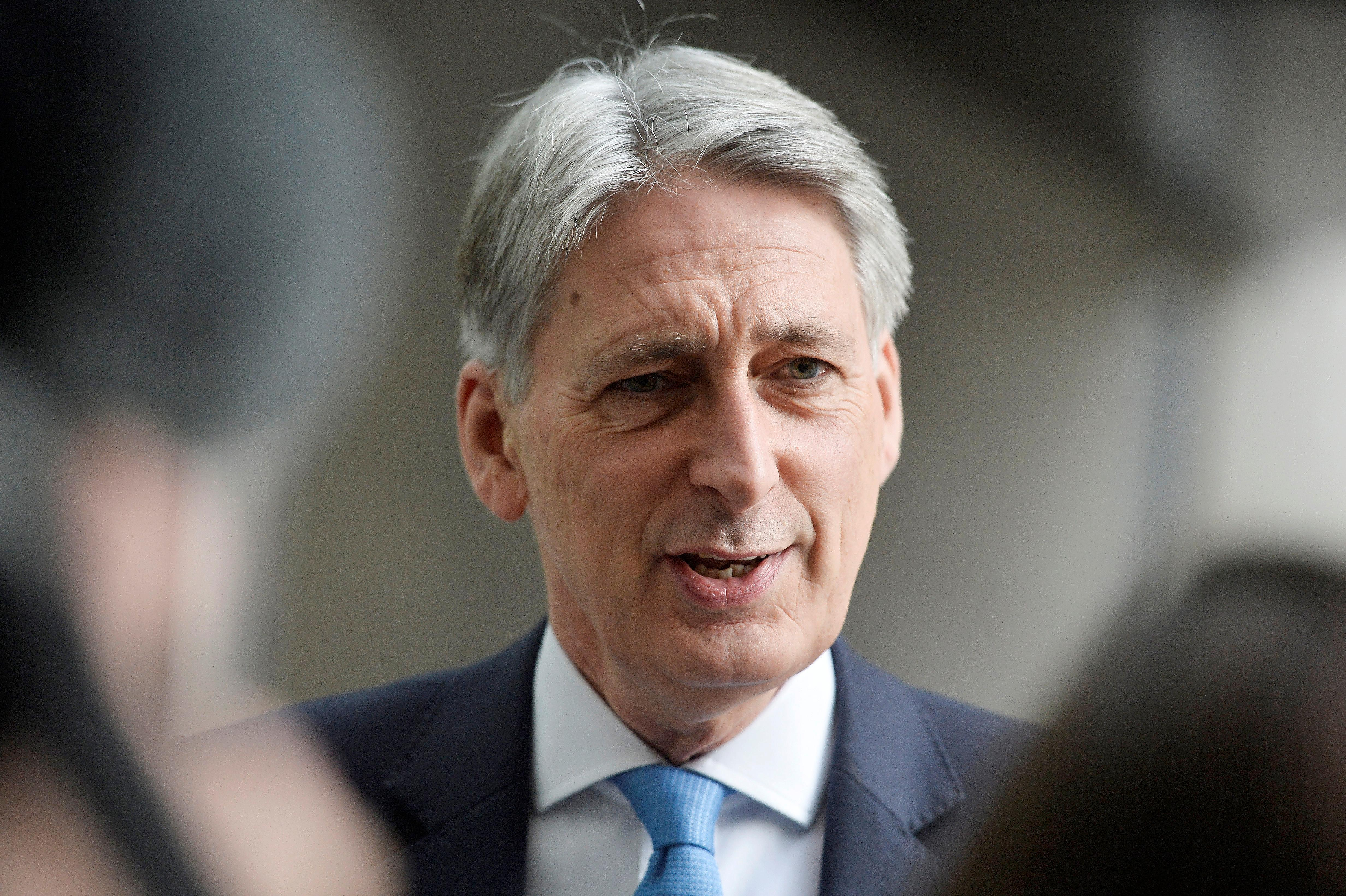 Britain's Chancellor of the Exchequer Philip Hammond will deliver his budget to the House of Commons on Nov. 22, 2017 Mary Turner