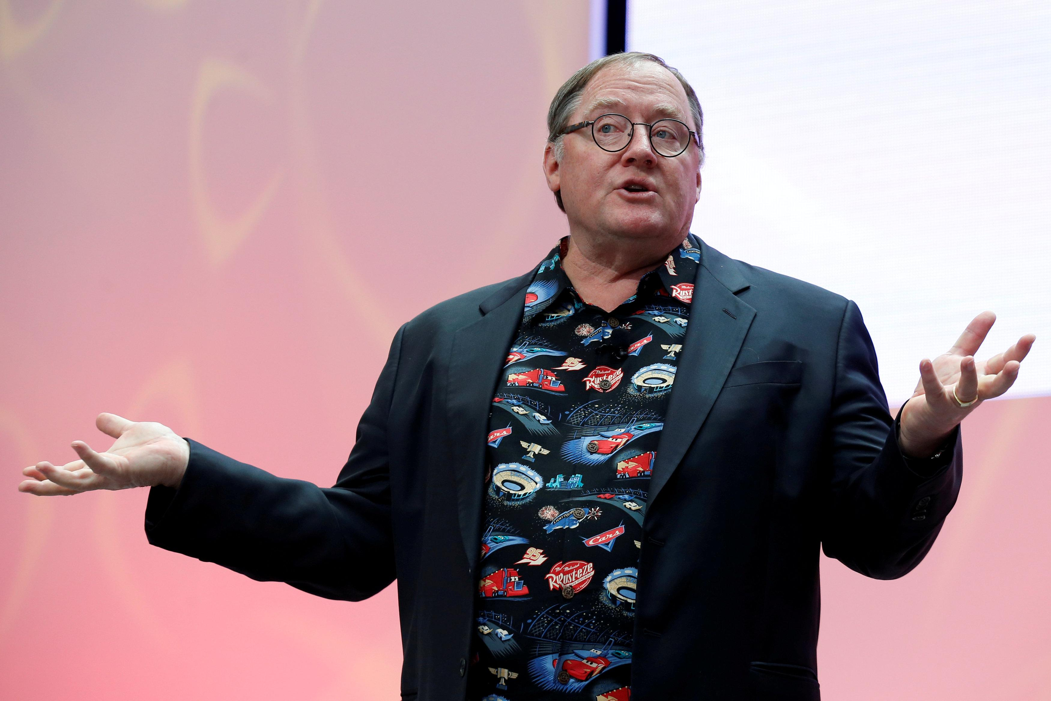 John Lasseter, Chief Creative Officer of Walt Disney and Pixar Animation Studios, speaks during the North American International Auto Show in Detroit, Michigan, U.S. on January 8, 2017.  Brendan McDermid