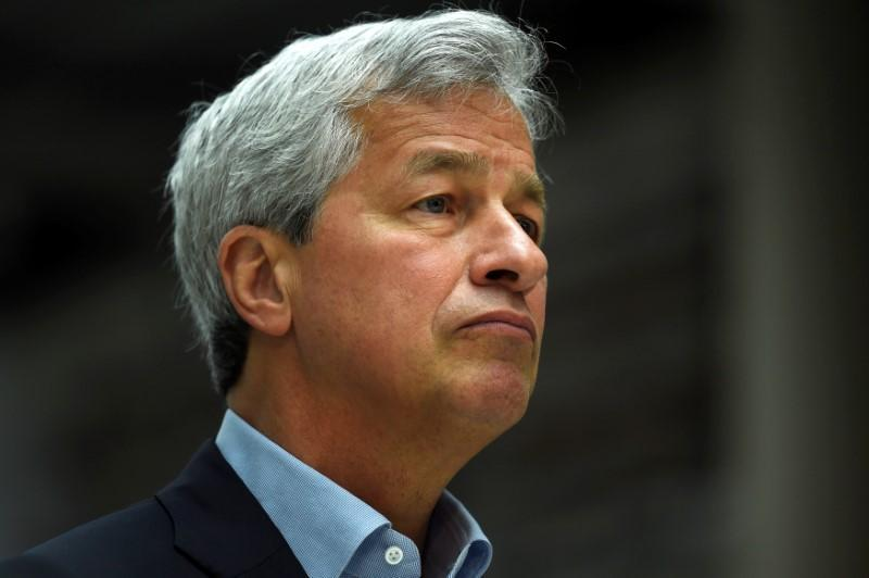 JP Morgan CEO Jamie Dimon speaks at a Remain in the EU campaign event attended by Britain's Chancellor of the Exchequer George Osborne (not shown) at JP Morgan's corporate centre in Bournemouth, southern Britain, June 3, 2016. Dylan Martinez