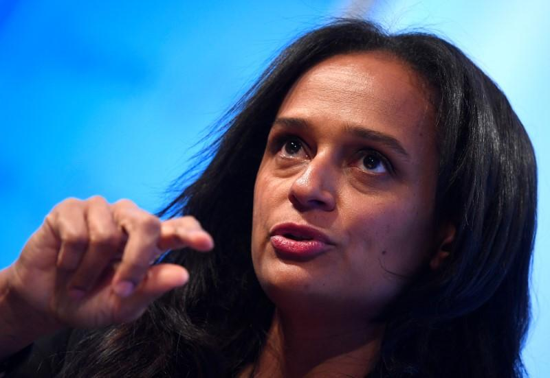 Isabel dos Santos, Chairwoman of Sonangol, speaks during a Reuters Newsmaker event in London, Britain, October 18, 2017. Toby Melville