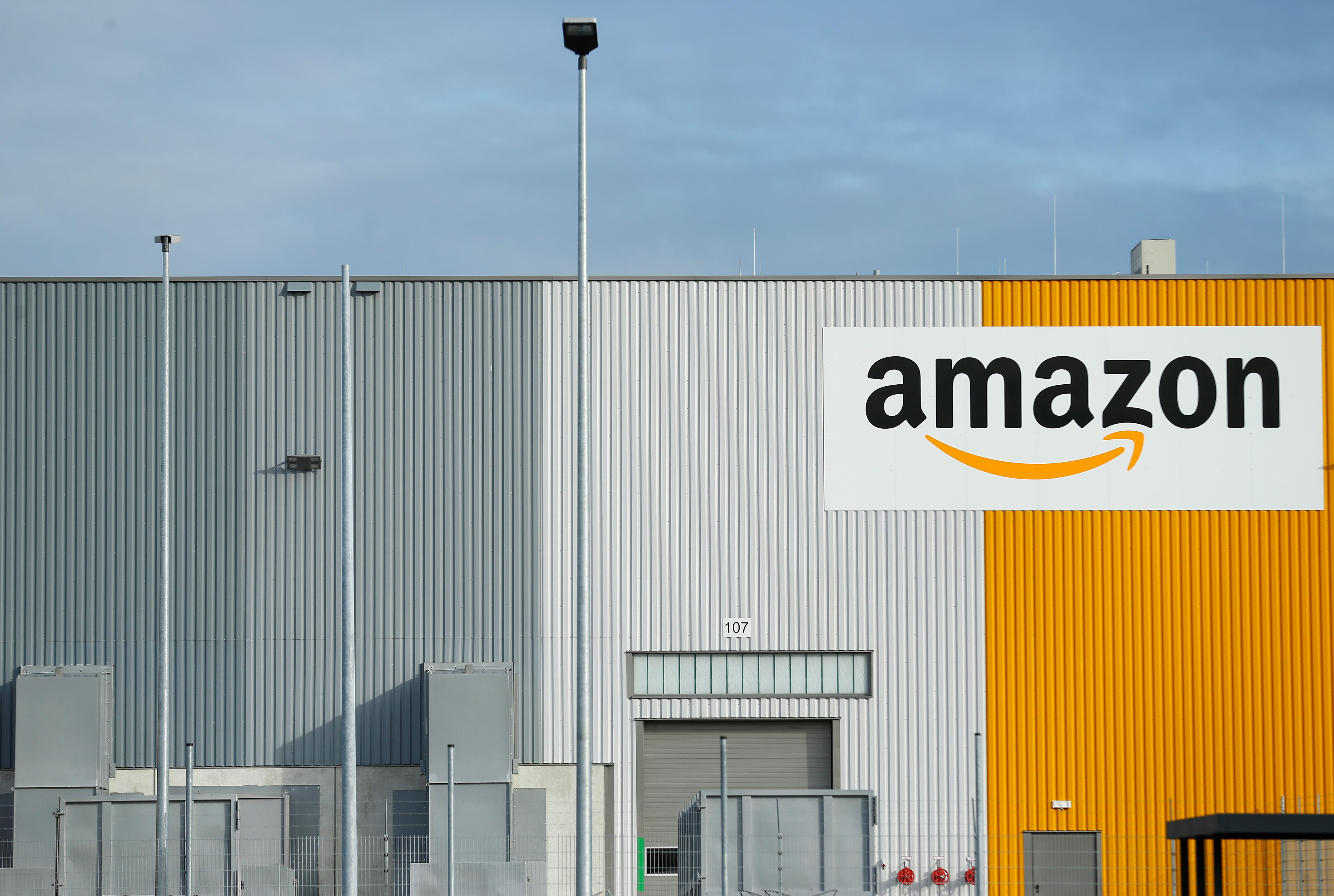 A view of the new Amazon logistic center with the company