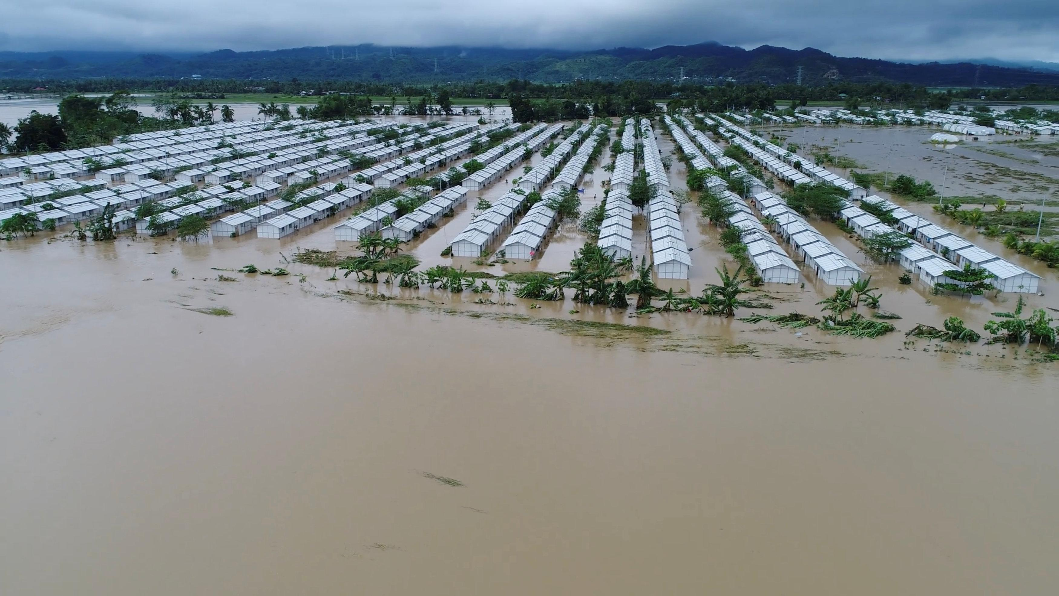 An aerial view of the flooded areas at Tzu Chi VIllage in Barangay Liloan, Phillipines, December 17, 2017 in this picture obtained from social media. ORMOC CITY POLICE OFFICE/via