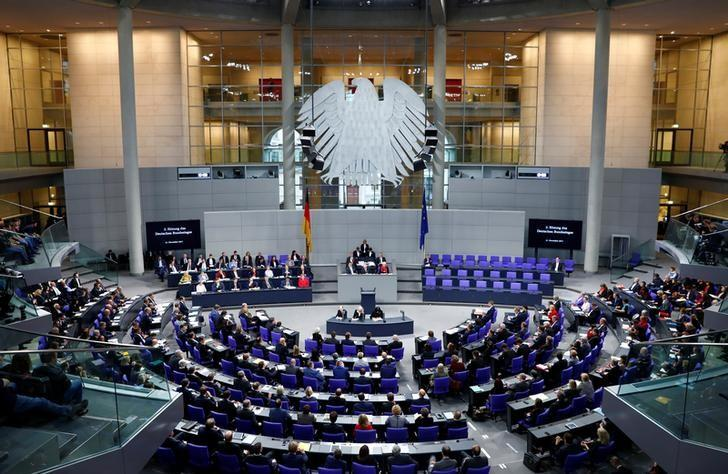 A session of the Bundestag, Germany's lower house of Parliament, in Berlin, November 21, 2017. Talks on forming a new coalition government are due to resume in January. Axel Schmidt