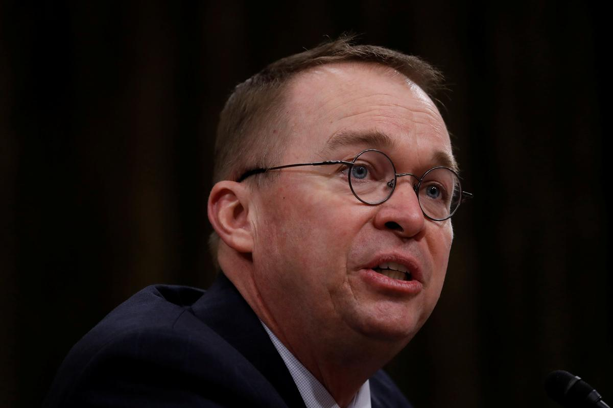 Trump budget chief says he would oppose budget if he were in Congress