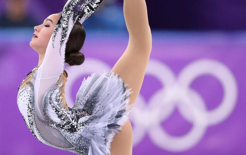 Figure Skating - Pyeongchang 2018 Winter Olympics - Ladies Single Skating Short Program - Gangneung, South Korea - February 21, 2018 - Alina Zagitova, an Olympic athlete from Russia, performs. Lucy Nicholson