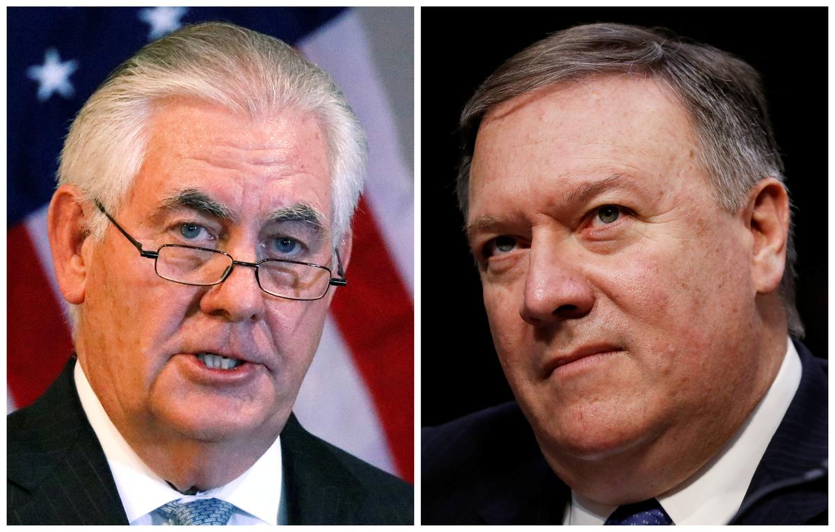 Trump fires top diplomat Tillerson after clashes, taps Pompeo