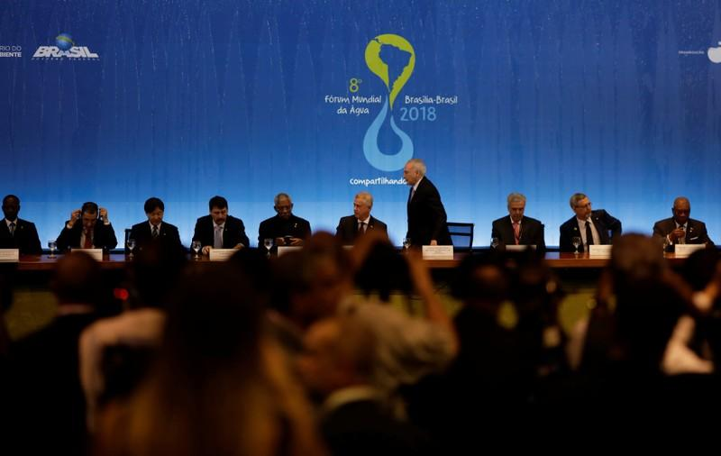 A general view during the opening ceremony of the 8th World Water Forum in Brasilia, Brazil March 19, 2018. Ueslei Marcelino