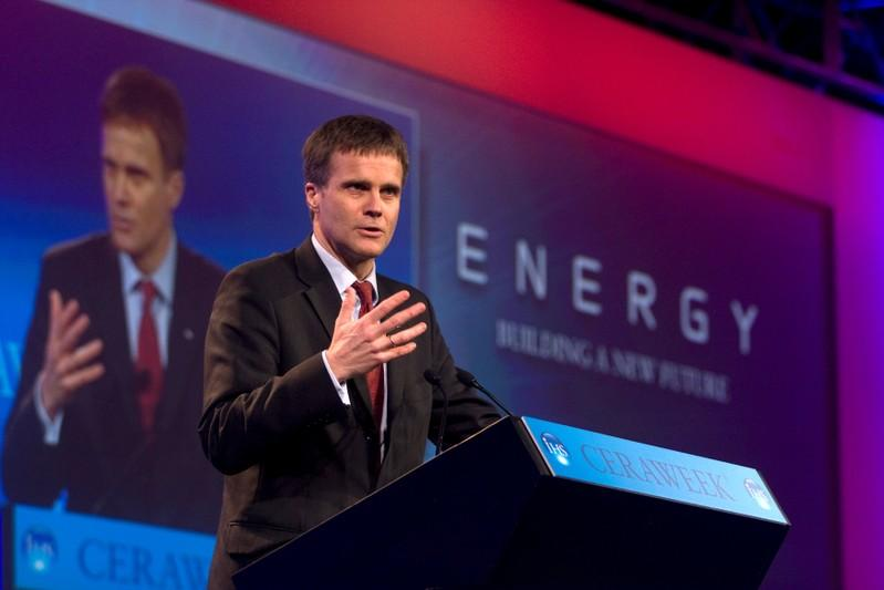 Helge Lund speaks at an energy conference in Houston during his time as Statoil CEO, March 10, 2010. Richard Carson