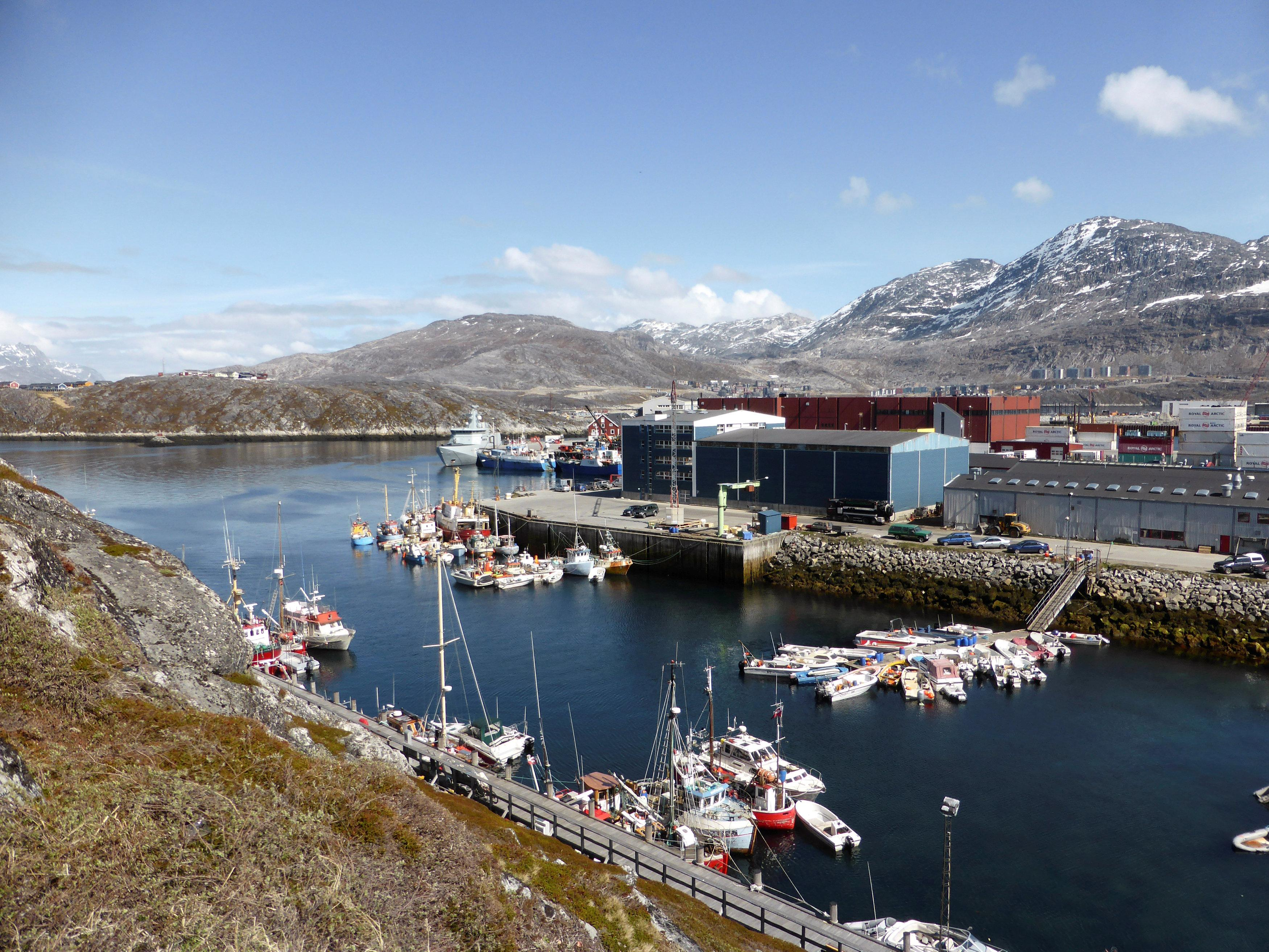 A general view of the port of Nuuk, Greenland, June 5, 2016. Alister Doyle