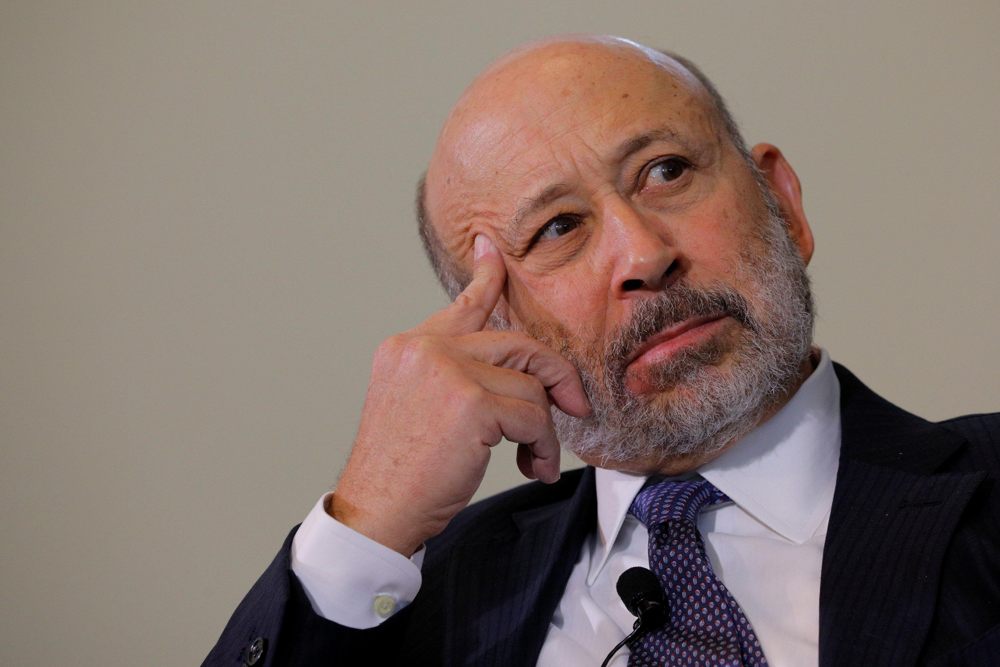 Lloyd Blankfein, CEO of Goldman Sachs, listens to a question at the Boston College Chief Executives Club luncheon in Boston, MA, U.S., March 22, 2018. Brian Snyder