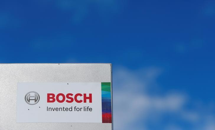 A Bosch logo is pictured in Renningen near Stuttgart, Germany July 29, 2016. Michaela Rehle