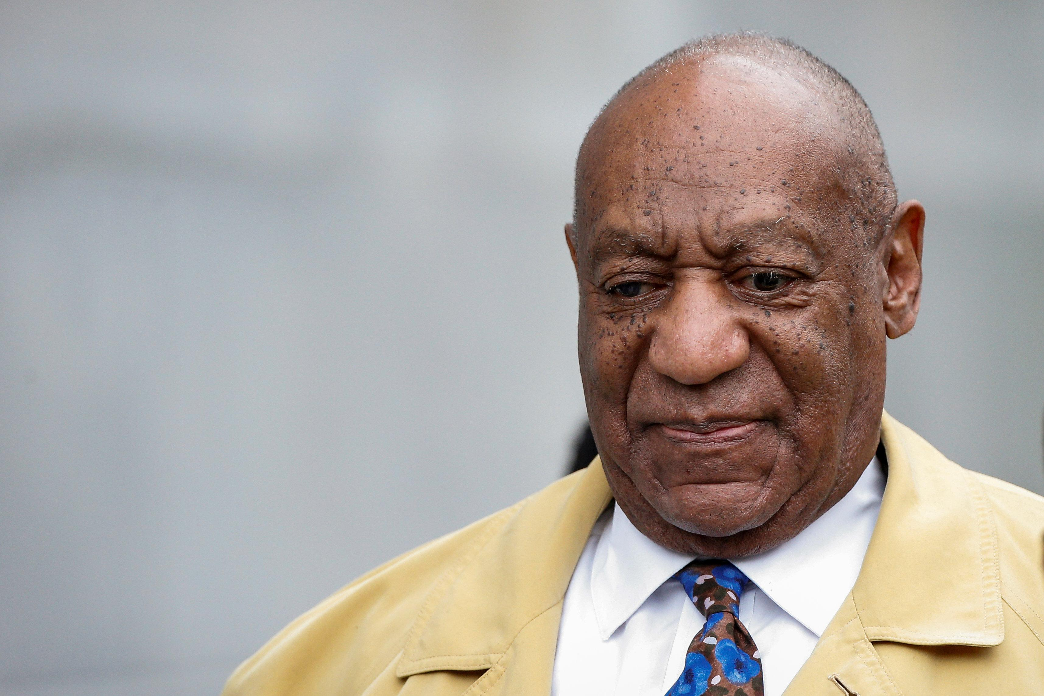 Actor and comedian Bill Cosby departs after a day of closing arguments at his sexual assault retrial at the Montgomery County Courthouse in Norristown, Pennsylvania, U.S. April 24, 2018.  Brendan McDermid