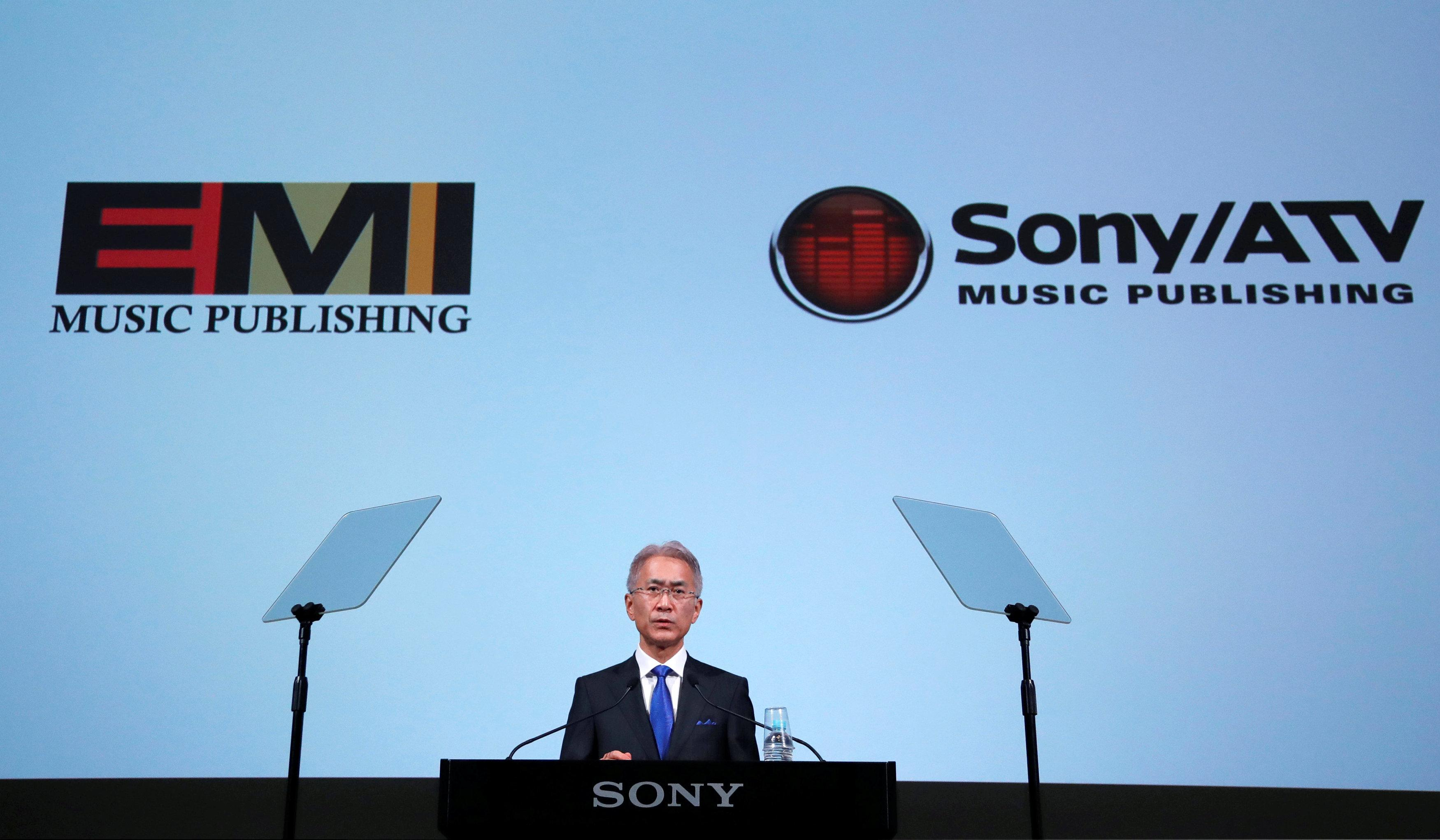 Sony Corp's new President and Chief Executive Officer Kenichiro Yoshida attends a news conference on their business plan at the company's headquarters in Tokyo, Japan May 22, 2018.  Toru Hanai