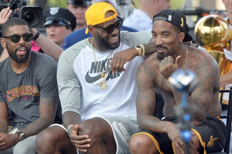 Celtics' Irving mum on potential LeBron reunion