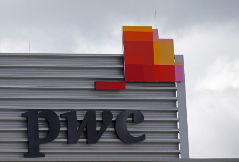 The logo of PricewaterhouseCoopers is seen on the local offices building of the company in Luxembourg, April 26, 2016. Vincent Kessler