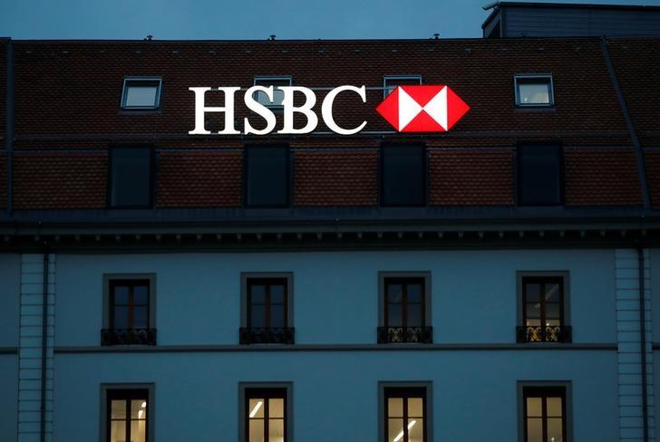 HSBC bank is pictured in Geneva, Switzerland, November 8, 2017.   Denis Balibouse