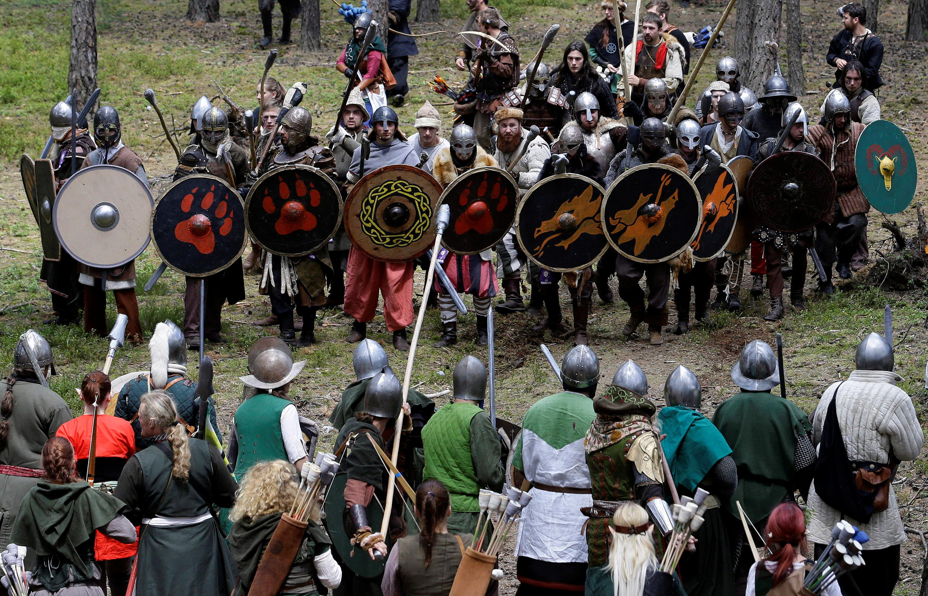 Participants dressed as characters such as elves, dwarves, goblins and orcs from J.R.R. Tolkien's novel