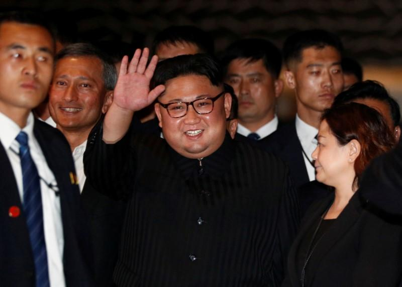 North Korea's leader Kim Jong Un visits The Marina Bay Sands hotel in Singapore, June 11, 2018. Edgar Su