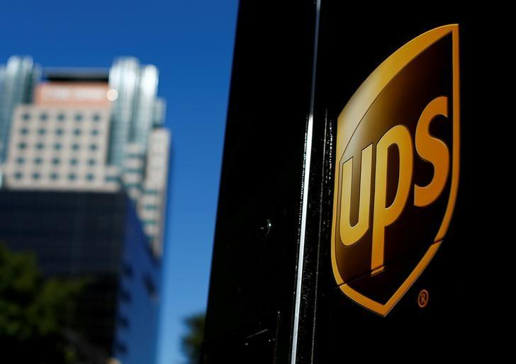 A United Parcel Service (UPS) truck on delivery is pictured in downtown Los Angeles, California, U.S.,  October 29, 2014.   Mike Blake