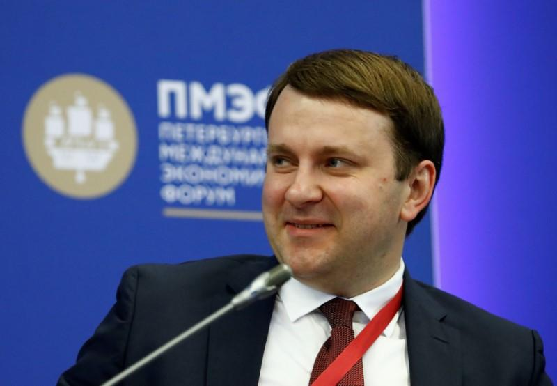 Russian Economy Minister Maxim Oreshkin attends a session of the St. Petersburg International Economic Forum (SPIEF), Russia May 24, 2018. Sergei Karpukhin