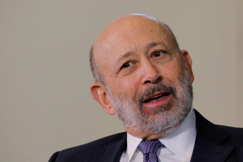Lloyd Blankfein, CEO of Goldman Sachs, speaks at the Boston College Chief Executives Club luncheon in Boston, MA, U.S., March 22, 2018. Brian Snyder