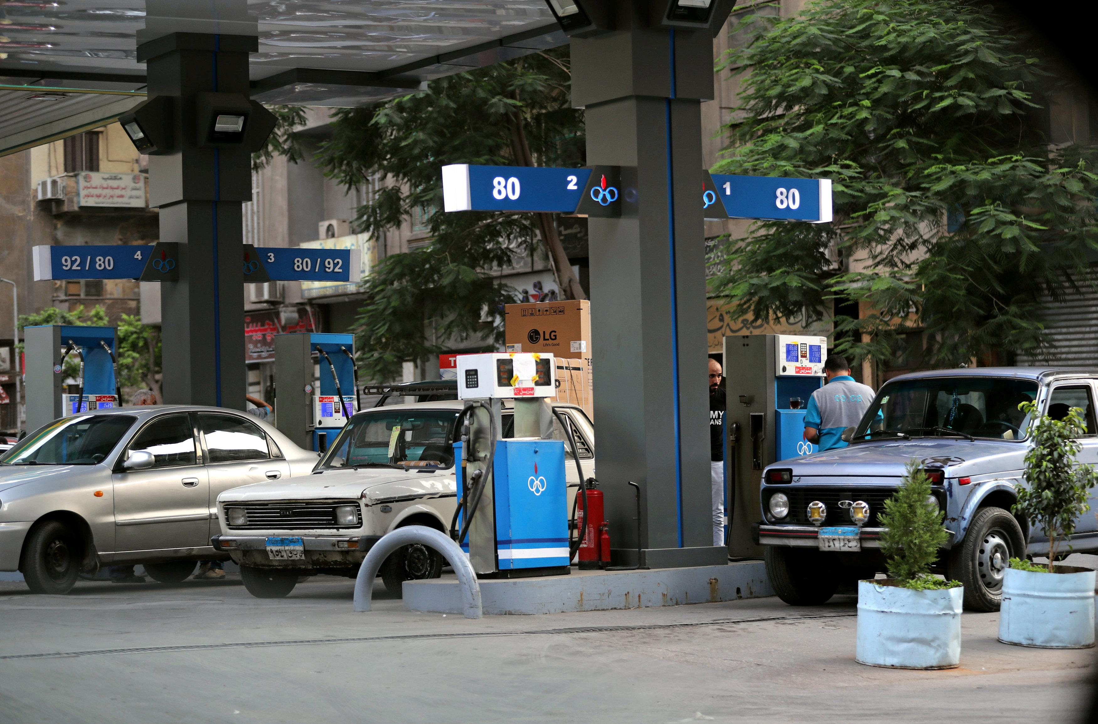 Cars are seen at a petrol station in downtown Cairo, Egypt June 19, 2018.  Mohamed Abd El Ghany