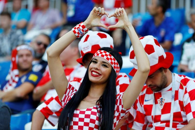 Soccer Football - World Cup - Group D - Croatia vs Nigeria - Kaliningrad Stadium, Kaliningrad, Russia - June 16, 2018   Croatia fan inside the stadium before the match    Fabrizio Bensch