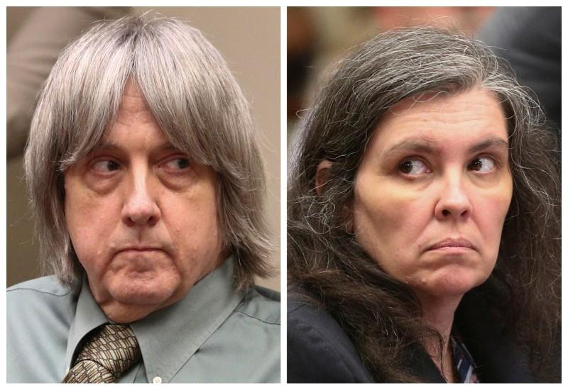 A combination photo shows David Allen Turpin and Louise Anna Turpin (R) making a court appearance in Riverside, California, U.S., May 4, 2018.   Frederick M. Brown/Pool via
