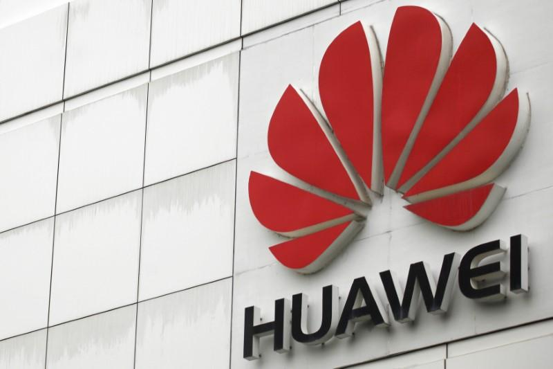 The logo of the Huawei Technologies Co. Ltd. is seen outside its headquarters in Shenzhen, Guangdong province, April 17, 2012.  Tyrone Siu