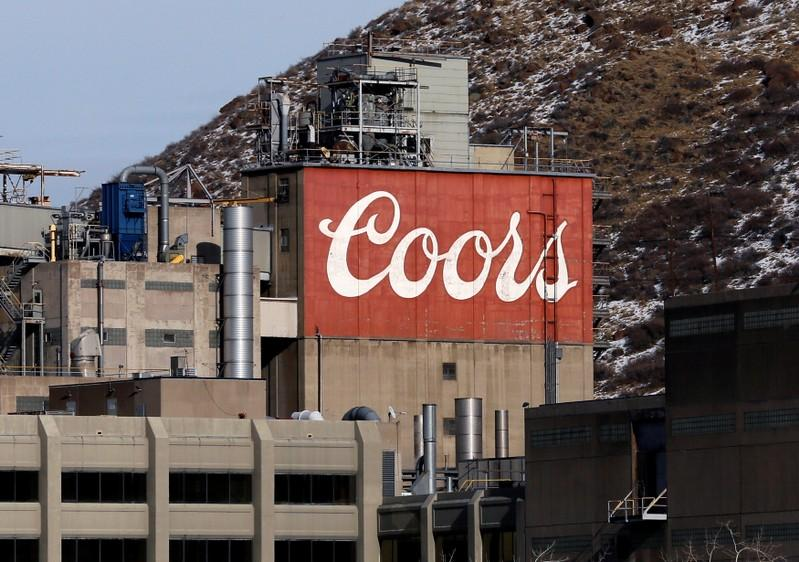 The sign on the Coors brewery is seen in Golden, Colorado February 12, 2014.  Rick Wilking