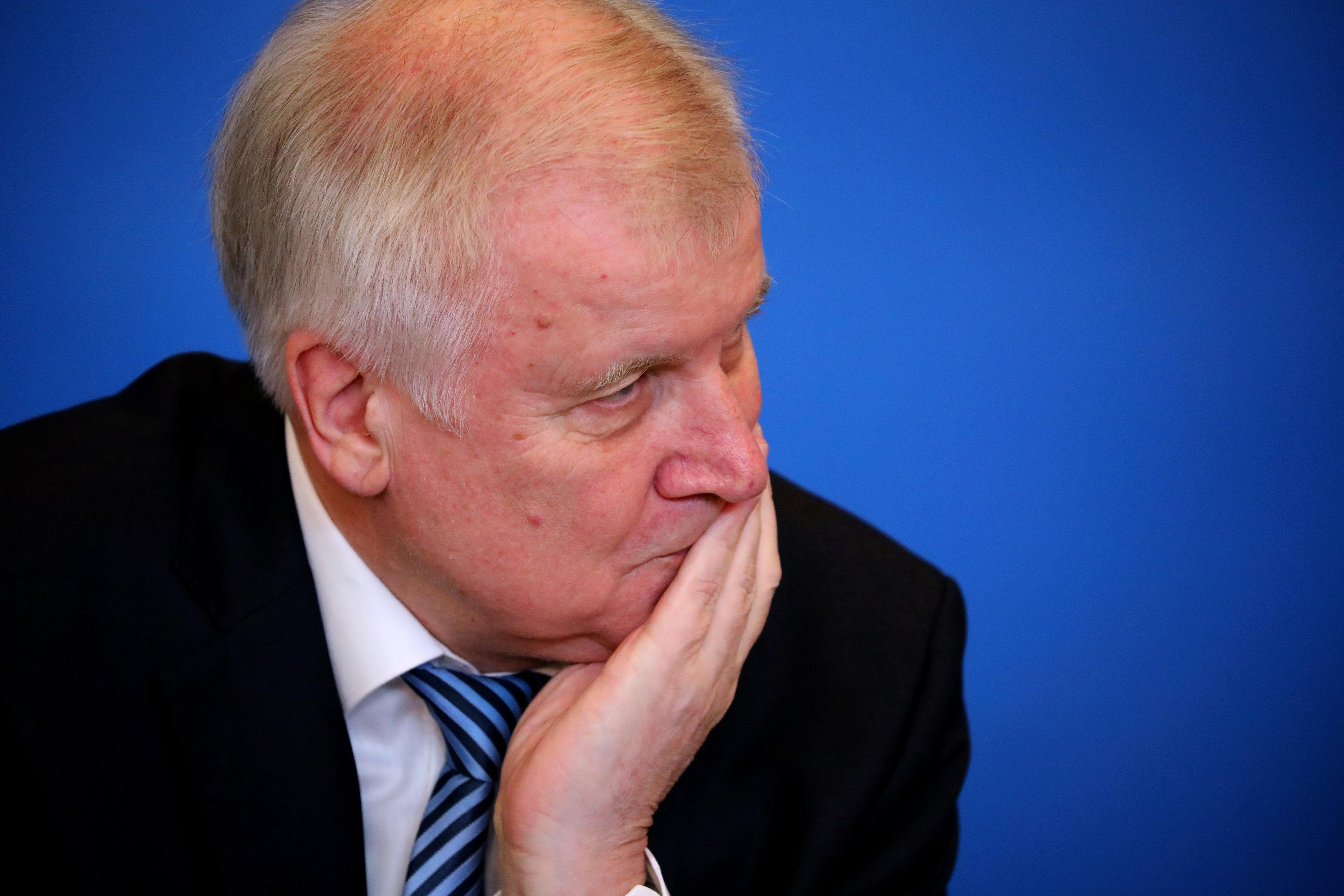 German Interior Minister Horst Seehofer presents his