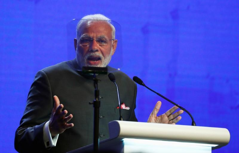 India's Prime Minister Narendra Modi in Singapore June 1, 2018. Edgar Su