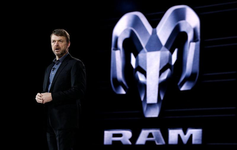 Mike Manley, Head of Ram Brand, speaks at the company's press conference at the North American International Auto Show in Detroit, Michigan, U.S., January 15, 2018. Brendan McDermid/File photo