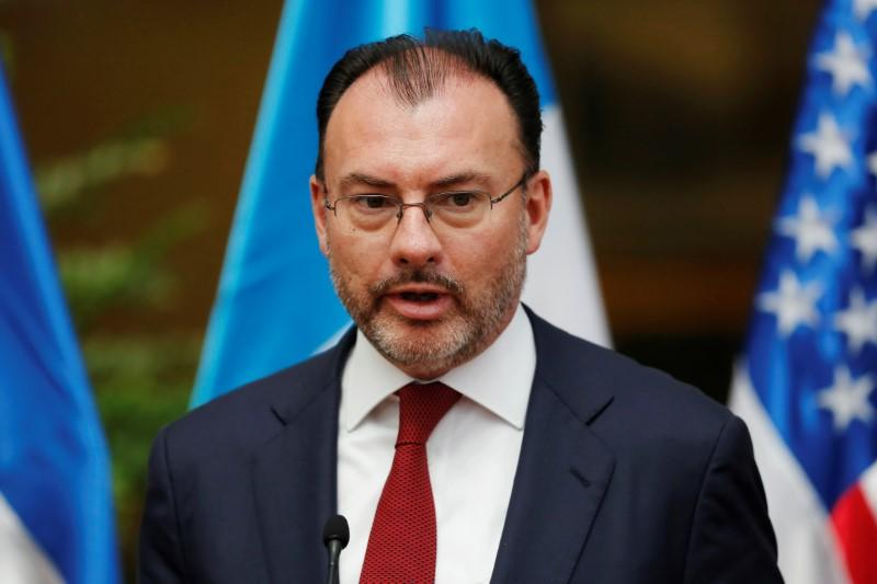 Mexico's Foreign Minister Luis Videgaray delivers a message after a meeting with U.S. Homeland Security Secretary Kirstjen Nielsen and his Central American counterparts in Guatemala City, Guatemala July 10, 2018. Luis Echeverria