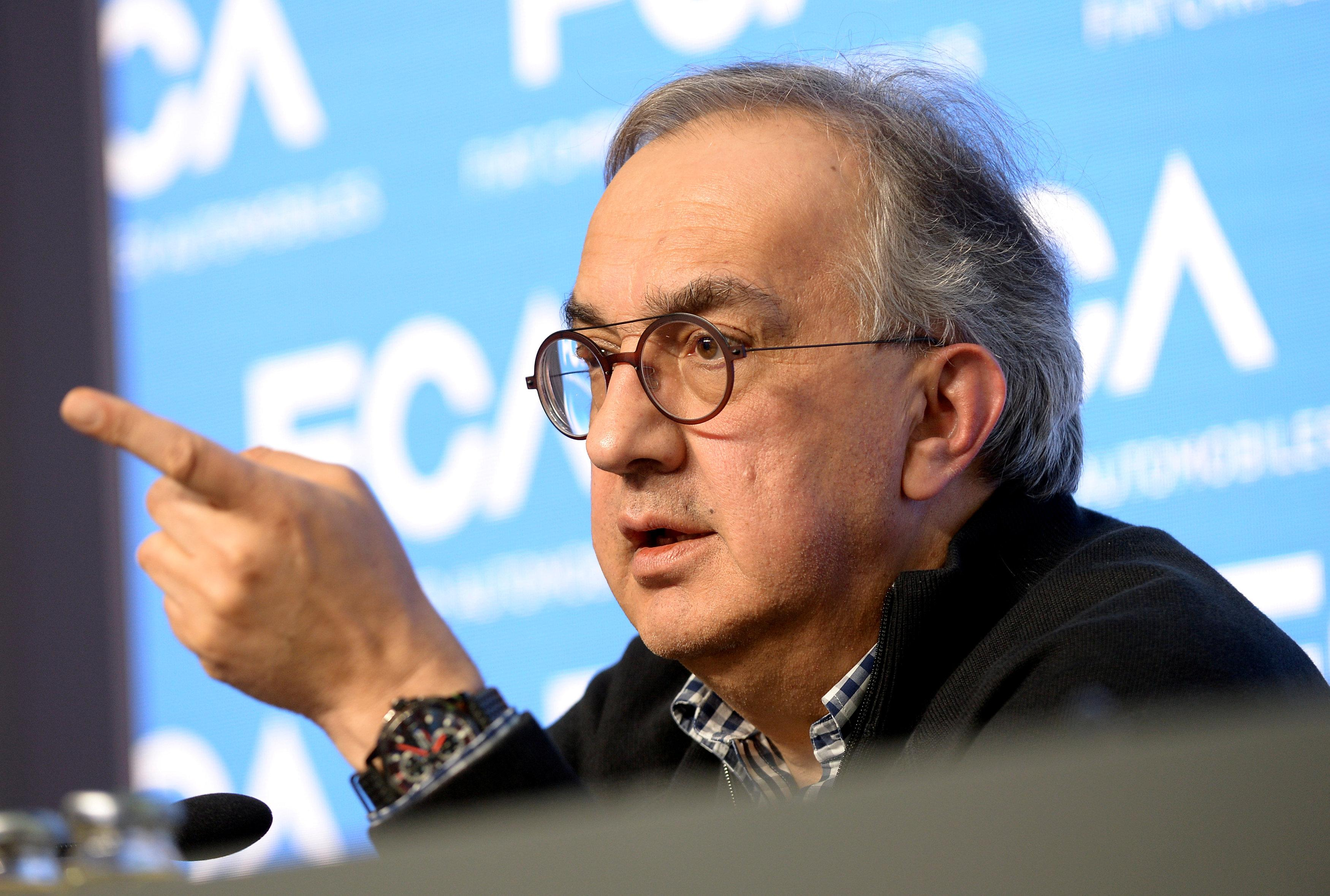 Fiat Chrysler Automobiles CEO Sergio Marchionne speaks during a media conference in Balocco, northern Italy, June 1, 2018.  Massimo Pinca