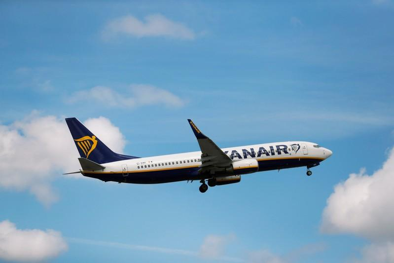 A Ryanair Boeing 737-800 plane takes off at Lisbon's airport, Portugal July 5, 2018. Rafael Marchante