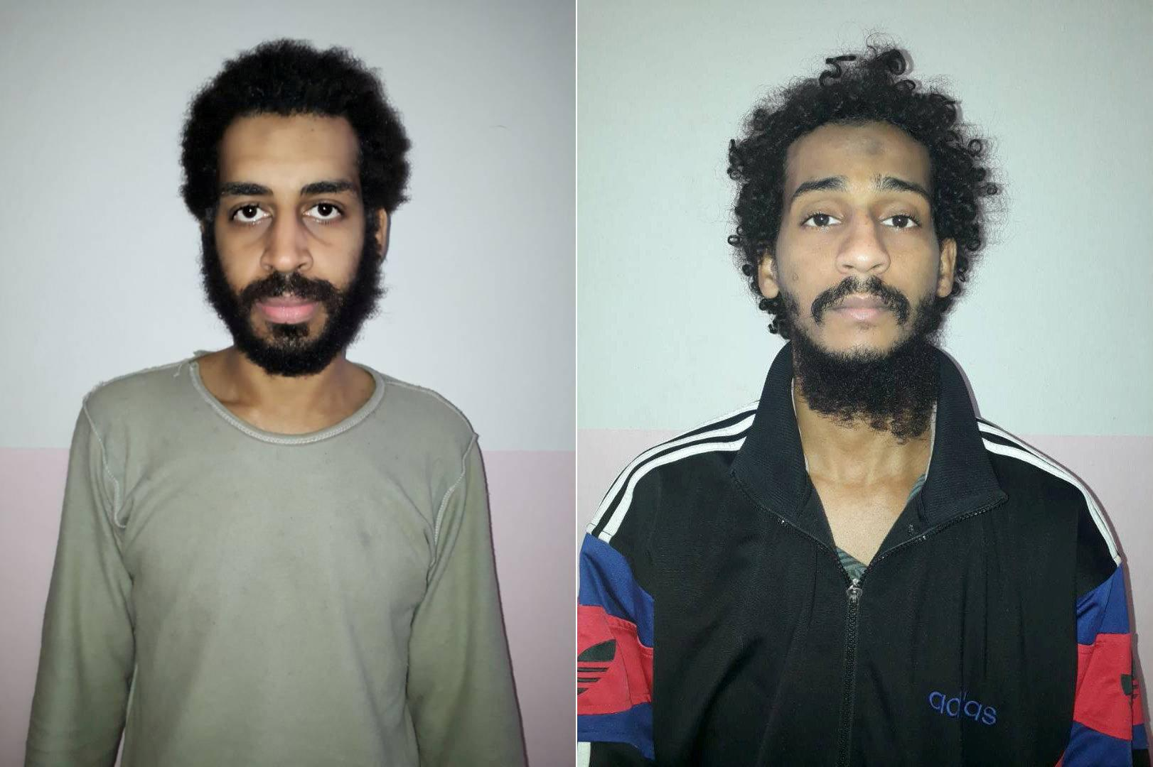 A combination picture shows Alexanda Kotey and Shafee Elsheikh, who the Syrian Democratic Forces (SDF) claim are British nationals, in these undated handout pictures in Amouda, Syria released February 9, 2018. Syrian Democratic Forces/Handout via