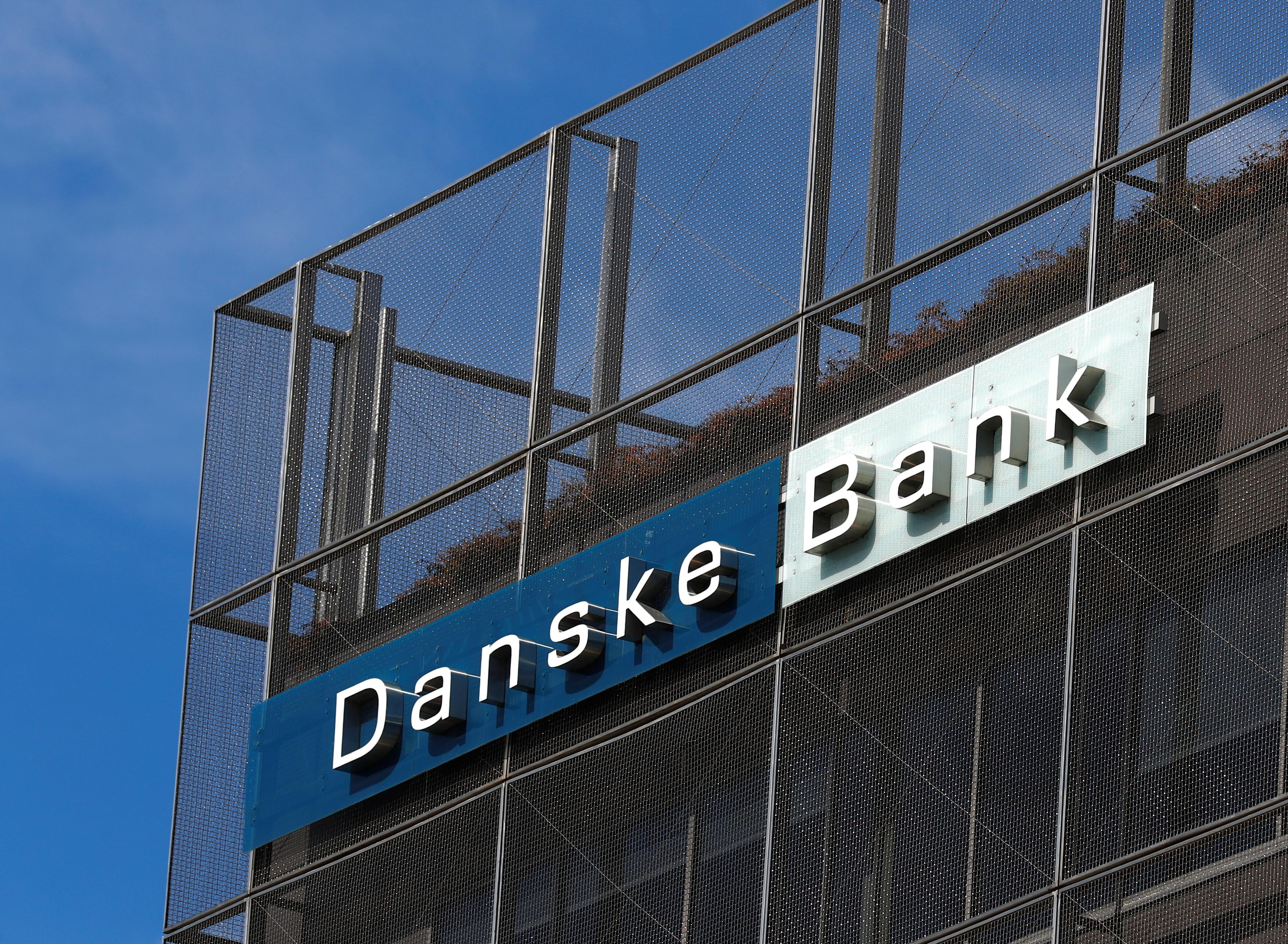 Danske Bank sign is seen at the bank's Estonian branch in Tallinn, Estonia August 3, 2018. Ints Kalnins
