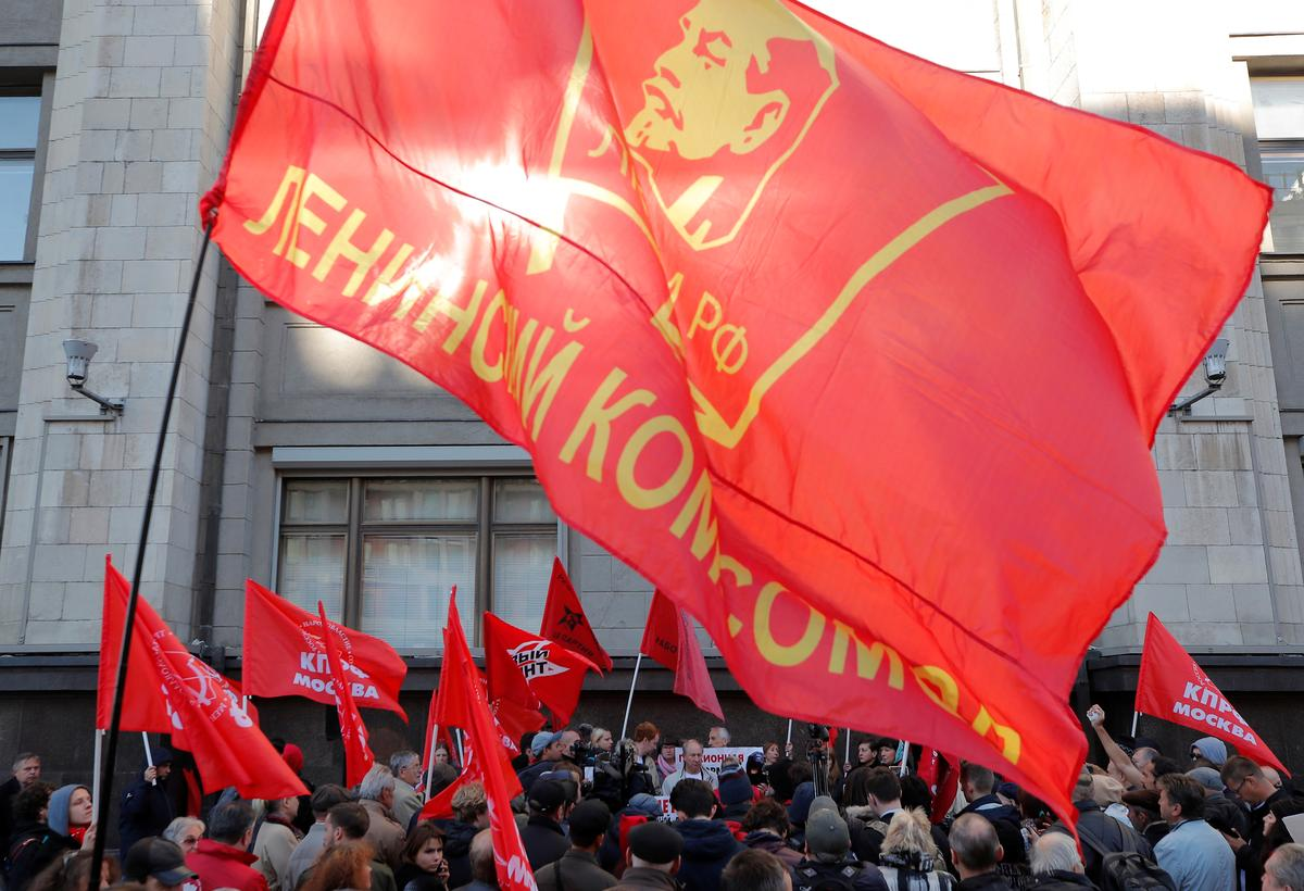 Pensioners protest as Russia moves closer to raising retirement age