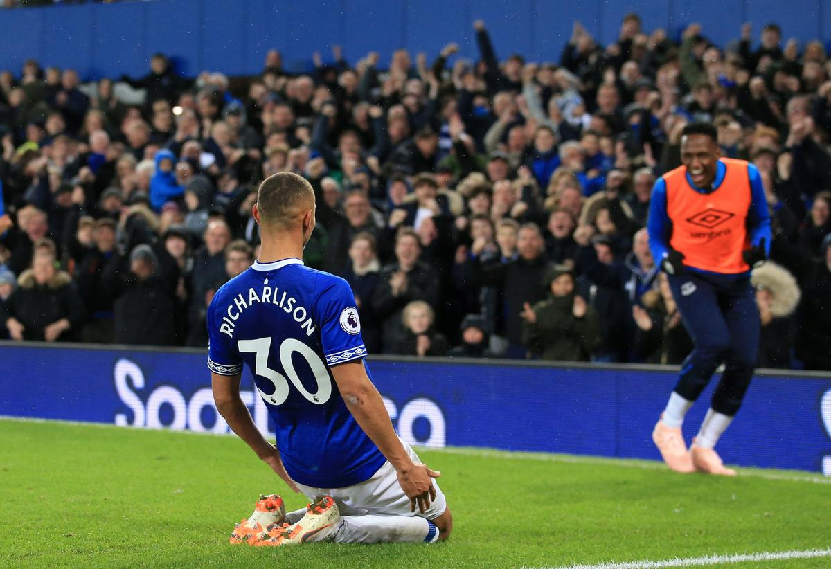Soccer: Richarlison at the double as Everton see off Brighton