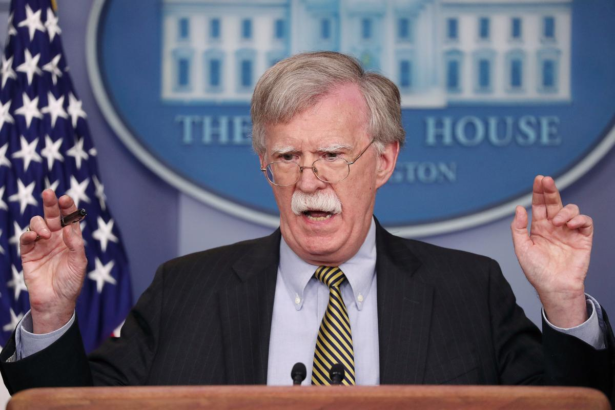 Bolton says U.S. objects to China's military steps in South China Sea