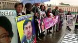 Demonstrations in Bogota for FARC victims amid peace talks